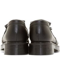 YMC - Black Leather Tassel Loafers - Lyst