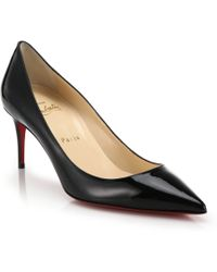 Christian Louboutin Point-Toe Patent Leather Pumps - Lyst