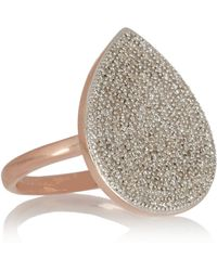 Monica Vinader - Alma Rose Gold-Plated Diamond Ring - Lyst