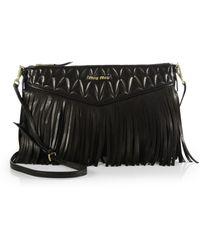 Miu Miu Nappa Crossbody Bag with Fringe - Lyst