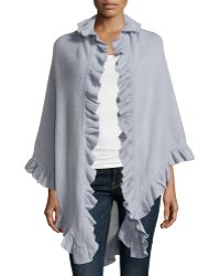 Minnie Rose | Cashmere Ruffle-trim Shawl | Lyst