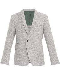 Haider Ackermann Fleece Wool-blend Blazer - Lyst