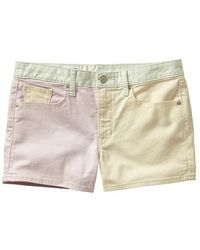 Gap Colorblock Maddie Denim Shorts - Lyst