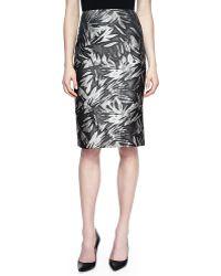 Jason Wu Botanical-print No-waistband Skirt - Lyst