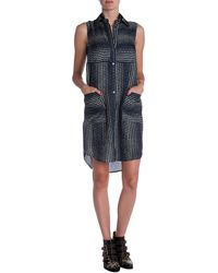 10 Crosby Derek Lam Double Layered Printed Dress - Lyst