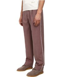 Marc Jacobs Textured Tom Check Cuffed Pant - Lyst