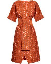 OSMAN | Hemera Metallic-jacquard Dress | Lyst