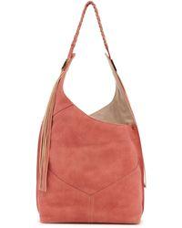 Ella Moss Skylar Leather Hobo Bag - Lyst