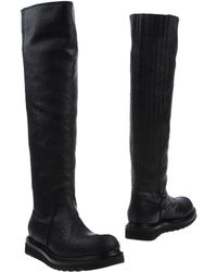 Rick Owens Black Boots - Lyst