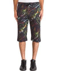 McQ by Alexander McQueen Scratched Jogging Sweat Shorts - Lyst