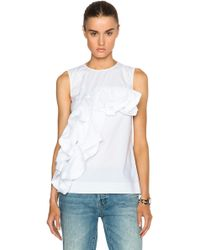 Marni Frill Top white - Lyst