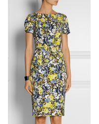 Erdem Joyce Floral-print Stretch-twill Dress - Lyst