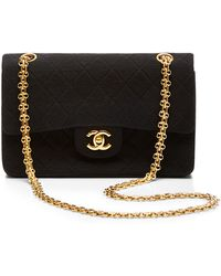What Goes Around Comes Around Chanel Black Jersey 255 9in - Lyst