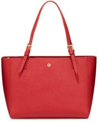 Tory Burch York Small Saffiano Tote Bag - Lyst
