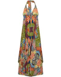 Alice + Olivia Ollie Halter Neck Maxi Dress - Lyst