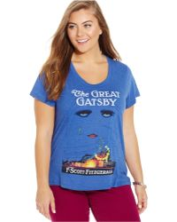 Out Of Print - Plus Size The Great Gatsby Graphic Tee - Lyst