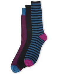 Cole Haan 3-Pack Sailor Striped Crew Socks - Lyst