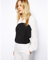 Asos Colourblock Top - Lyst