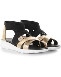 Moncler Strappy Flat Sandals - Lyst