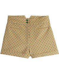 Anna Sui Jacquard Shorts green - Lyst