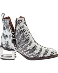 Jeffrey Campbell Boone Ankle Boot Grey Snake - Lyst