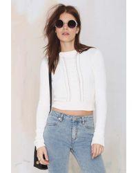 Nasty Gal Short Notice Crop Sweater - Lyst