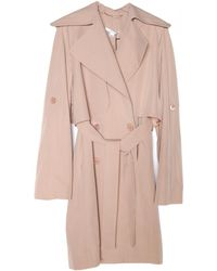Carven Nude Trench Coat - Lyst