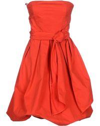 The Editor Short Dress - Lyst