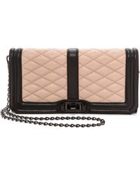 Rebecca Minkoff Love Clutch - Blacklatte - Lyst