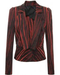 Vivienne Westwood Anglomania Arizona Stripe Fitted Jacket - Lyst
