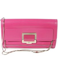 Roger Vivier Handbag U Lock Clutch Leather - Lyst