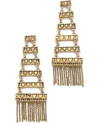 House of Harlow 1960 - Peak To Peak Fringe Earrings - Lyst