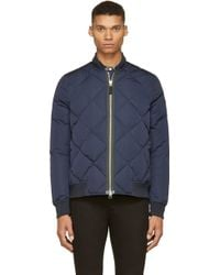 Paul Smith Navy Diamond Quilted Bomber Jacket - Lyst