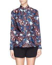 Thakoon Twist Front Floral Print Shirt - Lyst