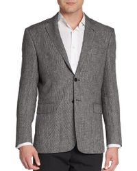 Saint Laurent Regular-Fit Tweed Wool Sportcoat - Lyst