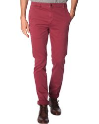 Menlook Label Noa Bordeaux-Red Chinos - Lyst