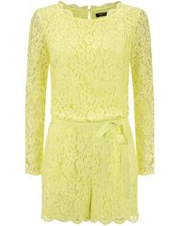 Juicy Couture Lace Long Sleeve Playsuit - Lyst