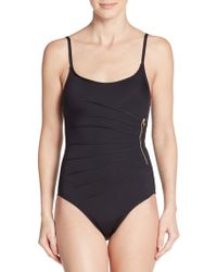 Ivanka Trump - One-piece Starburst Swimsuit - Lyst