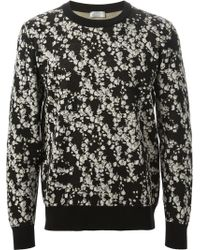 Dior Homme Lilies Jacquard Sweater - Lyst