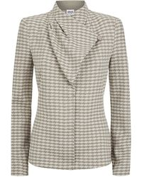 Armani Diamond Jacquard Jacket - Lyst