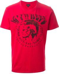 Diesel Red Tbert Tshirt - Lyst