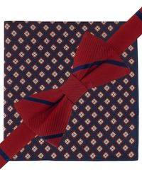 Tommy Hilfiger Stripe Bow Tie & Neat Pocket Square Set - Lyst