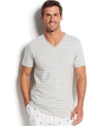 Polo Ralph Lauren Striped Short Sleeve V-Neck T-Shirt - Lyst