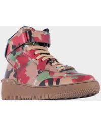 "Valentino Multicolor Leather ""Rock Be"" Sneakers - Lyst"