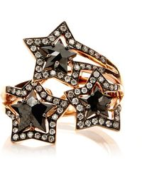 Tomasz Donocik - Three Black Diamond Star Ring - Lyst