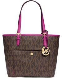 MICHAEL Michael Kors Jet Set Medium Snap-Pocket Tote Bag pink - Lyst