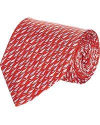 Ferragamo Red Sailboat Tie - Lyst