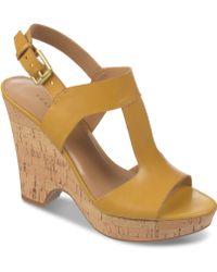 Franco Sarto Gitana Platform Wedge Sandals - Lyst