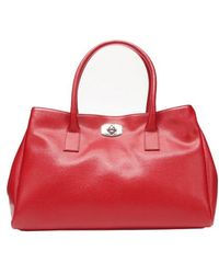 Furla Cabrinet Red Crosshatched Leather New Appaloosa Tote Bag - Lyst