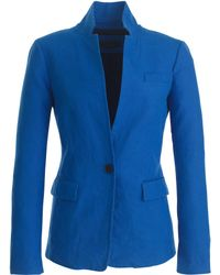 J.Crew Petite Regent Blazer In Linen blue - Lyst